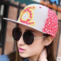 平沿帽子网红同款新品女时尚户外运动韩版潮男女士运动五角星棒球帽 女