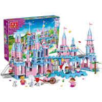 小颗粒】邦宝益智拼插积木儿童玩具女孩公主礼物月光城堡8363