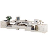 欧式电视柜茶几现代简约可伸缩电视柜客厅储物柜小户型玄关柜 组装