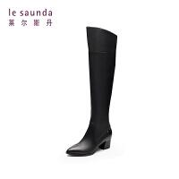 【全场3折】莱尔斯丹 专柜款粗跟尖头长筒女靴长靴 8T55806