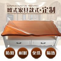 欧式茶几垫透明不收缩软玻璃磨砂台布餐桌布防水水晶板PVC塑料