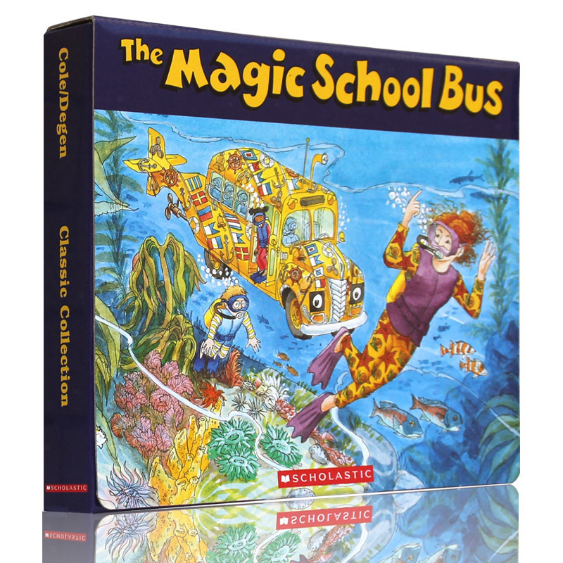 Magic School Bus Classic Collection (6books+CD)《神奇校车(手绘版)》(6册书+CD)ISBN9780545687447