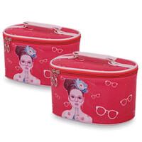 化妆包圆筒化妆品收纳包手提化妆盒可爱卡通旅行防水小号便携