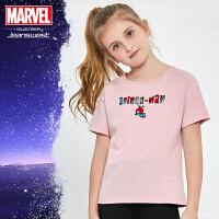 [2件2.5折到手价:27.5元]真维斯女童 2019夏装新款漫威联名迪士尼蜘蛛侠印花圆领短袖T恤潮