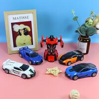 �和�汽�模型玩具�男孩��意碰撞�形�C器人�T性�����玩具