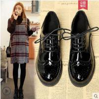松糕鞋英伦风小皮鞋女春季新款百搭韩版厚底学生复古软妹单鞋