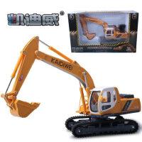 凯迪威合金工程车声光挖掘挖土机铲车汽车儿童玩具车模型合金车模