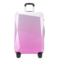 行李箱女韩版拉杆箱小清新万向轮旅行箱个性学生密码箱子潮20寸24 粉紫色 渐变