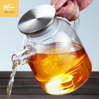 玻璃泡茶壶大号耐高温煮单壶加厚透明家用荼具套装凉水壶日式耐热