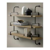 铁艺墙上书架置物架复古实木板壁挂层架创意墙壁一字隔板搁板架子