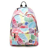 印花双肩包女包韩版潮学院风书包 学生休闲电脑背包旅行包