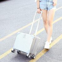 行李箱女18寸登机箱小型密码箱复古拉杆箱男迷你旅行韩版皮箱超轻 18寸