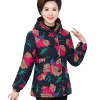 中年人女装秋冬装棉衣加绒加厚棉袄奶奶装大码中长款妈妈装