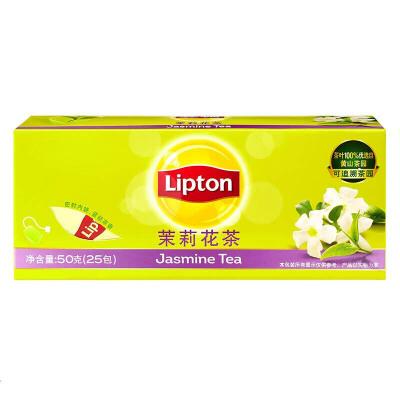[当当自营] Lipton 立顿 茉莉花茶 2g*25 自营食品 支持货到付款