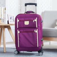 24寸拉杆箱男20寸商务旅行箱女行李箱28寸帆布箱包万向轮密码箱 双袋