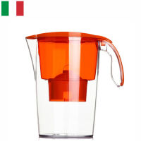 【当当海外购】意大利原装进口 莱卡(LAICA)双导流滤水壶(配滤芯)2.3L J703(橙色)