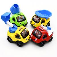 贝贝鸭回力工程车儿童玩具可爱卡通小汽车Q版回力车