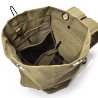 ?新款双肩包男士背包帆布包大容量水桶包户外旅行包运动多功能男包?
