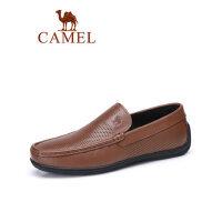 camel骆驼2019新款商务套脚休闲鞋牛皮轻便办公鞋差旅乐福国民男孔鞋