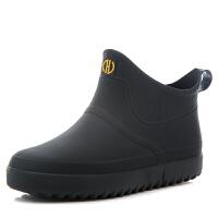 雨鞋男士短筒防水鞋雨靴低帮时尚套鞋钓鱼胶鞋户外雨鞋生活日用雨具 39 标准运动鞋码