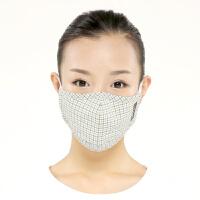 [当当自营]绿盾 口罩舒适保温型秋冬适用绿格M纸盒装
