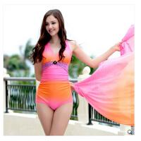 三角 泳衣女性感小胸聚拢钢托分体泳装比基尼罩衫显瘦遮肚泳衣女