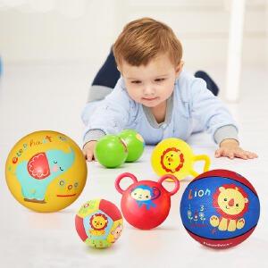 【当当自营】费雪儿童玩具球礼盒套装1-4岁宝宝摇铃球室内户外训练拍拍球F0917
