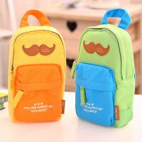 得力31718可爱创意书包造型多功能笔袋学生文具袋铅笔收纳袋