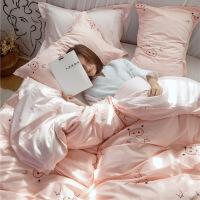 【官方旗舰店】ins四件套纯棉被套床单大学宿舍床上三件套1米2床单人女学生寝室3