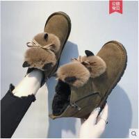雪地靴女新款冬季毛毛短靴短筒棉靴加绒加厚保暖棉鞋女靴子潮