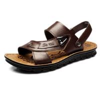 夏季男士凉鞋男大码中年防滑凉皮鞋中老年夏天凉拖鞋男鞋