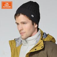 美国第一户外 男女通用防风保暖编织帽旅行露营针织平口滑雪帽