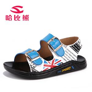 哈比熊童鞋夏季新款儿童凉鞋男童凉鞋男孩沙滩鞋子宝宝凉鞋