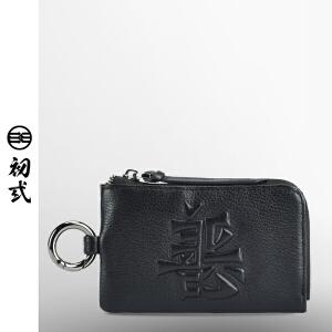 初�q卡包零钱包时尚潮流男女头层牛皮汽车善恶证件钥匙包