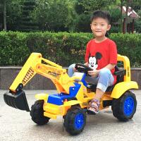 遥控儿童挖掘机可坐可骑电动挖土机男孩玩具车钩机2-3-6岁