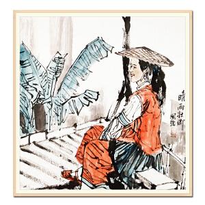 中国书法家协会会员、河南咏梅阁书画院院长 马国强《晴雨壮乡》LL385