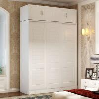 衣柜推拉门实木质卧室衣柜移门简约现代经济型23门大衣橱欧式