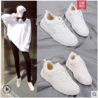 冬季新款加绒运动鞋女小白鞋韩版ulzzang原宿百搭板鞋加棉鞋