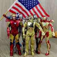 复仇者英雄玩具 电影 爱国者托尼钢铁侠3公仔模型 可动人偶