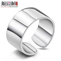 戒指女食指 开口主君的太阳925纯银指环宽版潮简约日韩版饰品刻字
