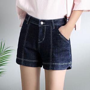 Freefeel 2018夏季新款牛仔短裤女时尚休闲短裤BH5022