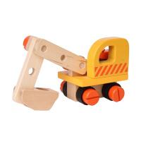 木玩世家正品 儿童宝宝工程螺母车 拆装螺母车 积木 拖车BH3305D