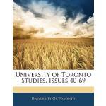 【预订】University of Toronto Studies, Issues 40-69 97811458709