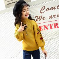 2018新款女童毛衣韩版女孩套头针织衫春款中大女童羊毛衫儿童外套