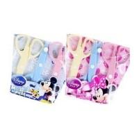 迪士尼儿童玩具剪刀花边塑料剪刀米奇剪刀 三把装DM0983-1