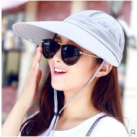 韩版大沿骑车帽防晒太阳帽 户外女士遮阳帽防紫外线遮脸帽子女