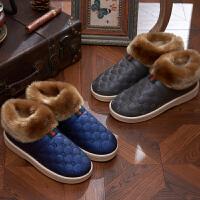 女拖鞋男式拖鞋情侣拖鞋棉拖鞋防滑毛毛绒全包跟鞋月子鞋保暖厚底棉拖鞋