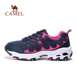 camel骆驼户外女款越野跑鞋 系带透气女运动鞋跑步鞋