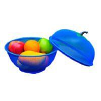 钱龙 水果篮创意时尚苹果造型带盖果篮套装夏季防蚊防虫果篮沥水果篮简约现代铁艺零食干果盆QL058