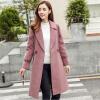 【每满200减100】秋冬新款纯色中长款修身显瘦外套女装韩版呢子大衣上衣   CDF365RX